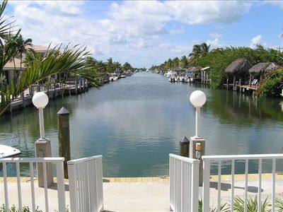 Key Colony Beach house rental - View Down the Canal