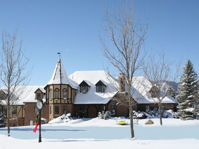 Snowbasin estate rental - Winter ice skating rink