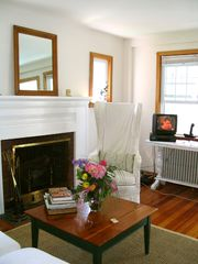 Old Saybrook cottage photo - Fireplace in Living Room.