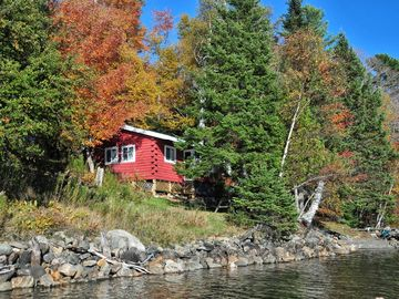 Rangeley Lake cabin rental - Loon Cottage from lake