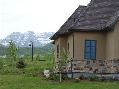 Incredible views from this Luxury Midway Utah Vacation Rental By Owner