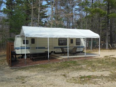 Silver Lake 33 foot trailer fully setup on large private wooded site
