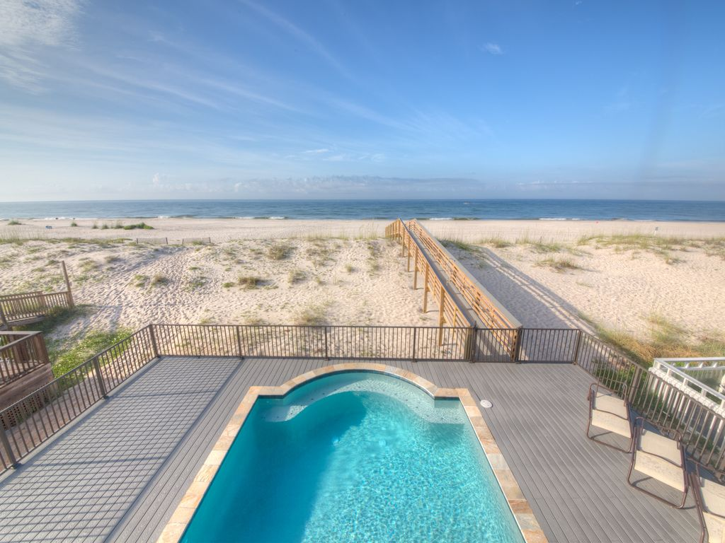 Brand New Beachfront Home With Private Pool  VRBO