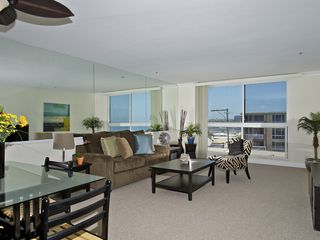 Pacific Beach condo photo - If you stand by the window you can see the ocean to the side.