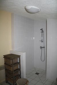 The newly fitted shower room