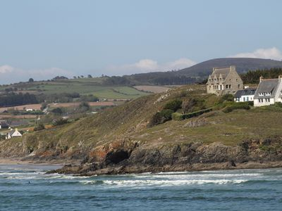 Large granite house, top coastal location, total sea view, 2 beaches on your doorstep