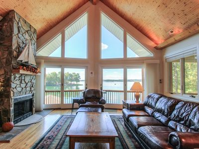 COVERED PORCHES -Wide Sunset Views, BEACH, 2 Canoes & Kayak, Firepit, Beach