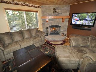 Moonridge cabin photo - Fireplace, Big Screen & Sound Bar