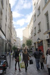 The apartment's street is one of the most fashionable and charming in Paris