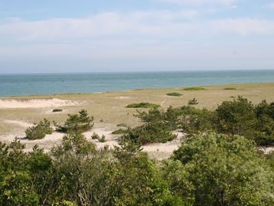 The dunes in Sconset, a few minute walk from our rental house.