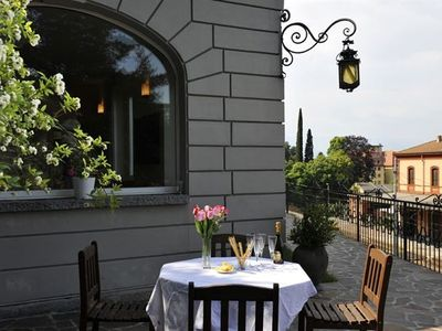 Varenna villa rental - Spacious garden and terrace