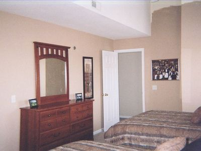 Large 2nd BR has 2 queen size beds. Everything (furn. linens, etc) is new.
