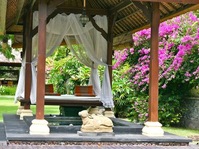 Jacuzzi and gazebo