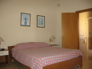 Marsaskala apartment photo - Main bedroom with King size bed and ensuite bathroom