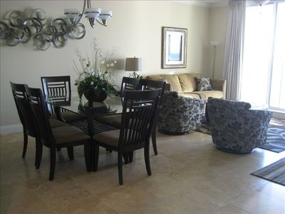 Spacious gulf front living and dining room
