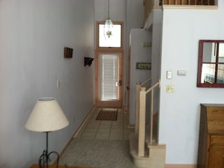 Big Boulder townhome photo - Front hallway and Family Room with new tile and carpet
