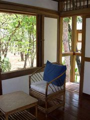 Montezuma bungalow photo - The beach is just 150 feet outside that window! Have a seat at monkey level.
