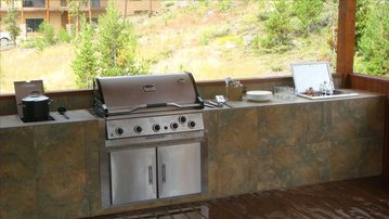 Outdoor cooking and entertainment area.