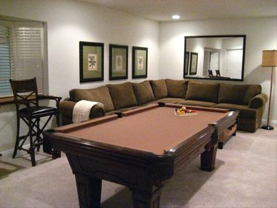 Lounge around and enjoy a game of pool