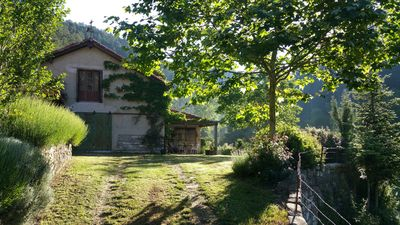 Pretty Pyrenean farmhouse & garden with exclusive unspoilt mountain views.