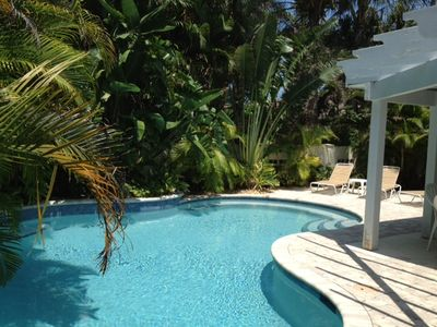 Private Heated Pool - Tropical Setting with Privacy Fence