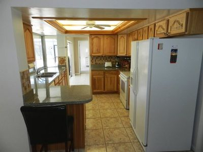 Kitchen - fully stocked w/ appliances, pots and pans and other accessories.
