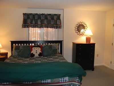 Lincoln condo rental - First Level Master Bedroom with King size Bed