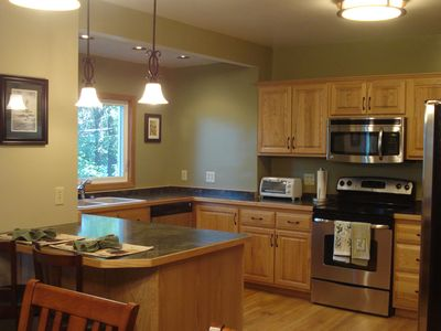 Duluth house rental - Large open kitchen with New Appliances