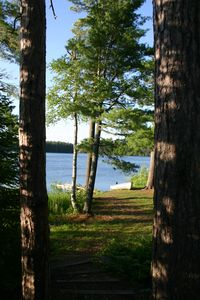Isabella house rental - View of Lake Gegoka from the fire pit