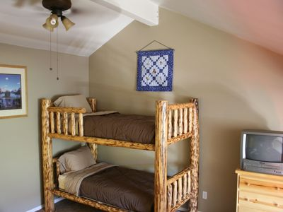 Bunk beds in loft.