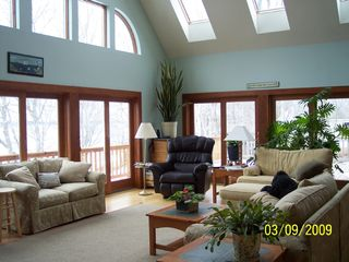 Westport Island house photo - Great Room surrounded by deck & southern exposure