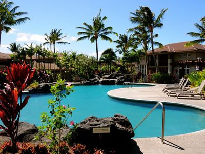 Complex pool, just 15 feet from the lanai.