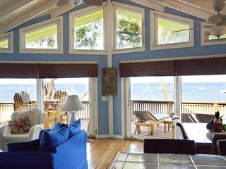 Roatan house photo - View from inside house with 180-degree views of the Caribbean