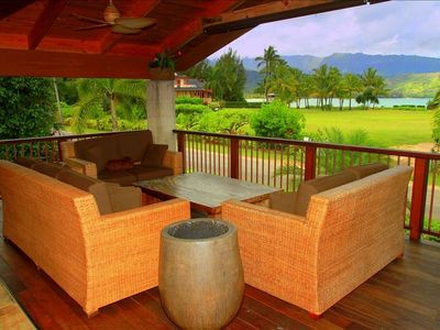 Upstairs Lanai with Spectacular Ocean Views of Hanalei Bay