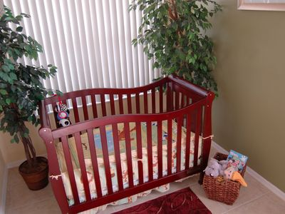 Full Size Crib (Baby Books, Toys, Highchair and Stroller Available)