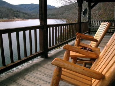 Lake Nantahala cabin rental - Enjoy the view from the porch