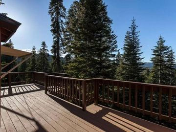 Donner Lake house rental - View into the mountain range and forested valley!
