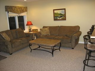 Burke townhome photo - Fireplaced living room with pull out queen sleeper