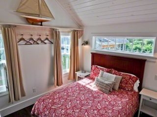 Edgartown house photo - Bedroom #2 - Queen Bed With Vaulted Ciling. First Floor