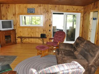 Edwards cabin photo - View of Living Room Toward Enclosed Porch and Lake.
