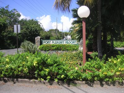 Resort Entry with sign