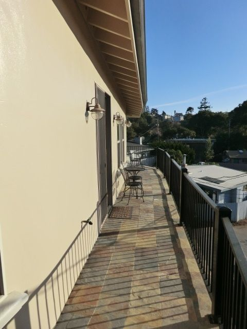 Long Balcony on the Third Floor Facing the Beach