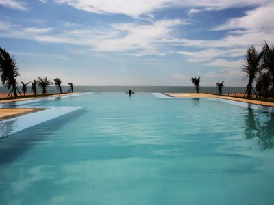 The neighbouring pool - which we have permission to use