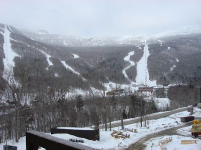 Balcony overlooking Mt Mansfield...
