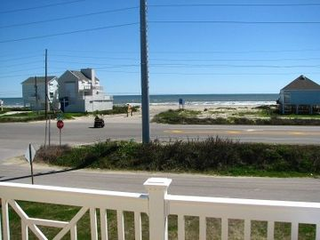 Galveston house rental - The ocean is right across the street 100 yards away.