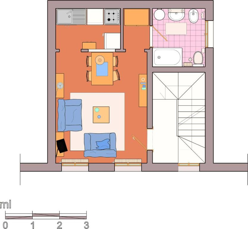 Holiday house, 25 square meters