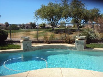 San Tan Valley house rental - Outdoor Private Pool w/ Scenic Golf Course View