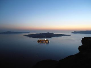 Thira (Fira) villa photo - One more Magic Night comes