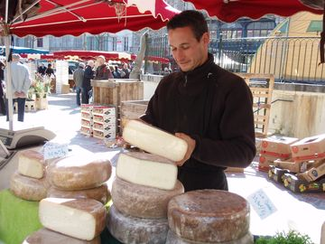 Market Day, Place Carnot - cheese stall