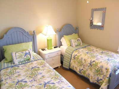3rd Bedroom - 2 Twin Beds w/ Direct TV Flatscreen HDTV & Blu-ray DVD (not shown)